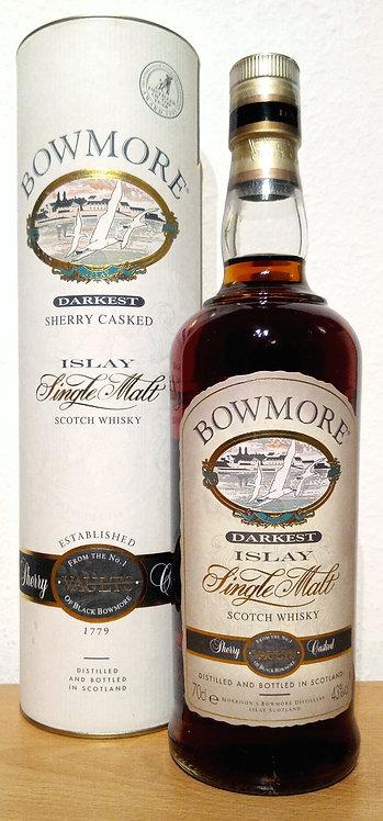 Bowmore Darkest Single Malt Whisky Sherry Casks old Bottling