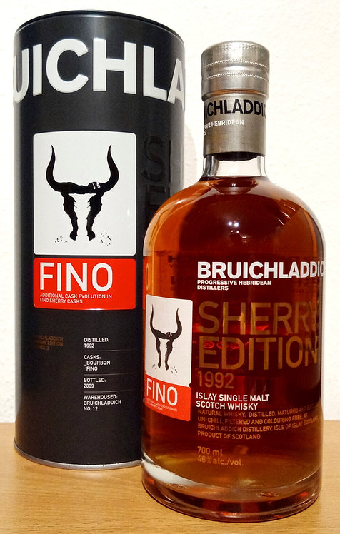 Bruichladdich 1992 Sherry Edition Fino 17 years old Limited Edition