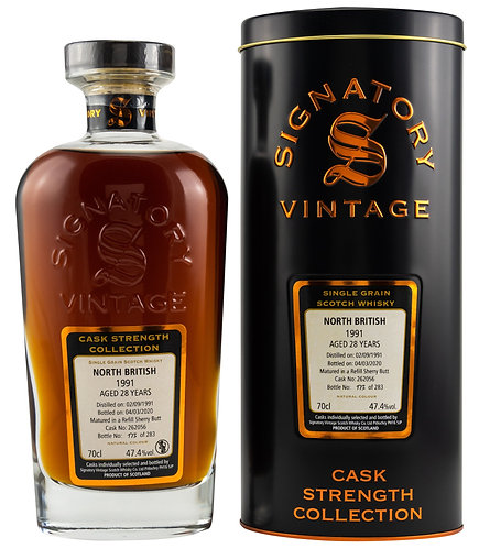 North British 1991 Signatory Vintage 28 years old Refill Sherry Butt 262056