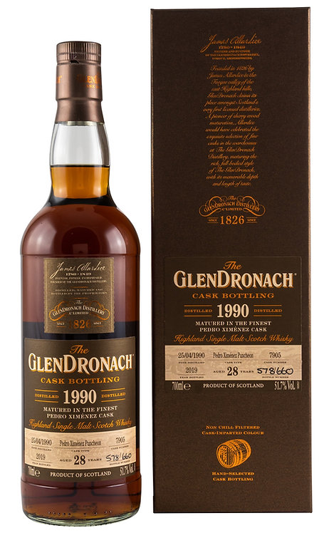 Glendronach 1990 Single Cask 7905 PX Sherry Puncheon 28 Years old