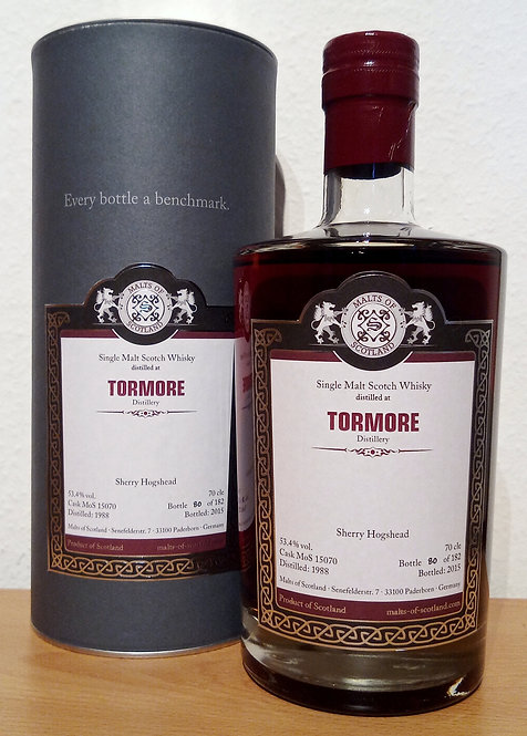 Tormore 1988 Malts of Scotland 27 Years old Cask 15070