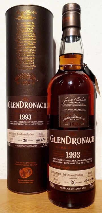 Glendronach 1993 Single Cask 8933 Pedro Ximénez Puncheon 26 Years old