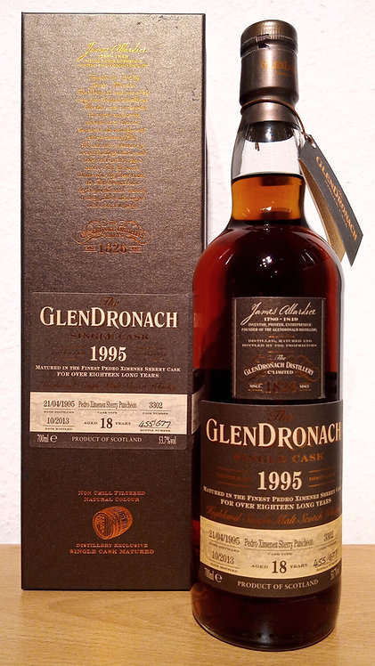 Glendronach 1995 Single Cask 3302 PX Sherry Puncheon 18 Years old