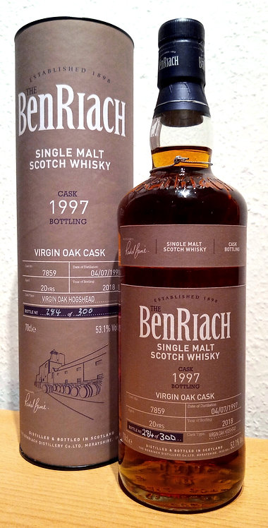 BenRiach 1997 Cask Bottling Batch 15 Virgin Oak Hogshead 20 years old