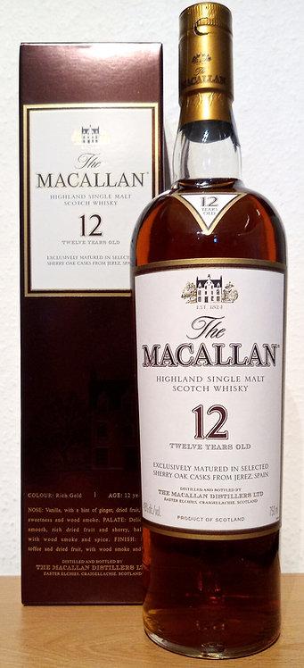 Macallan 12 Years old Sherry Oak Casks old Distillery Bottling 43% / 750ml