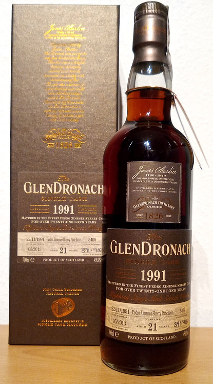 Glendronach 1991 Single Cask 5409 PX Sherry Puncheon 21 Years old