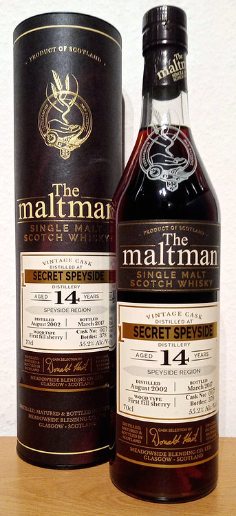Secret Speyside 2002 The Maltman 14 Years old First Fill Sherry Cask 007