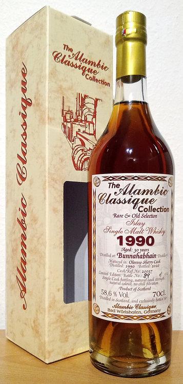 Bunnahabhain 1990 Alambic Classique 30 Years old Oloroso Sherry Cask 20027