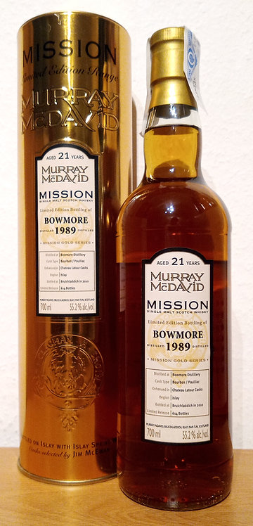 Bowmore 1989 Murray McDavid 21 Years old Mission Gold