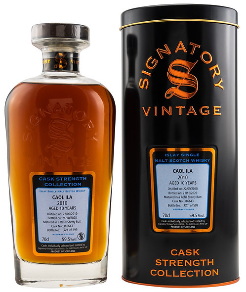 Caol Ila 2010 Signatory Vintage 10 years old Refill Sherry Butt 316643