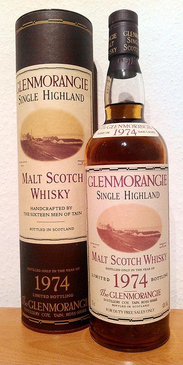Glenmorangie 1974 Single Highland Malt Scotch Whisky 25 Years old