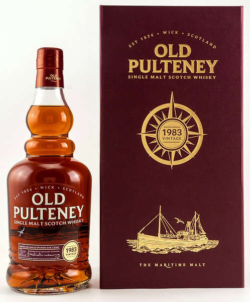 Old Pulteney 1983 Vintage 33 Years old Ex-Bourbon + Ex-Oloroso Sherry Casks