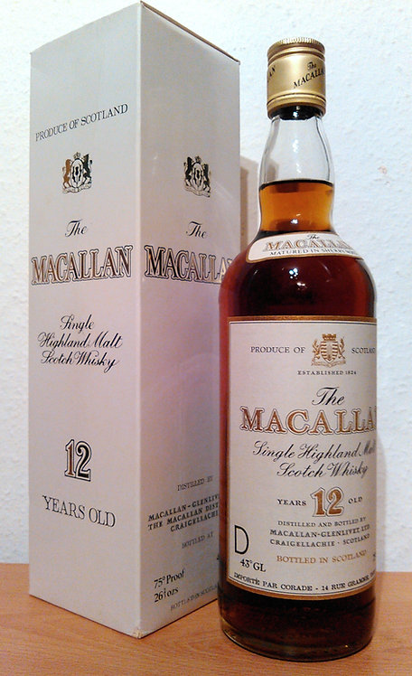 Macallan 12 Years old Single Malt Sherry Wood S.A - France 80s