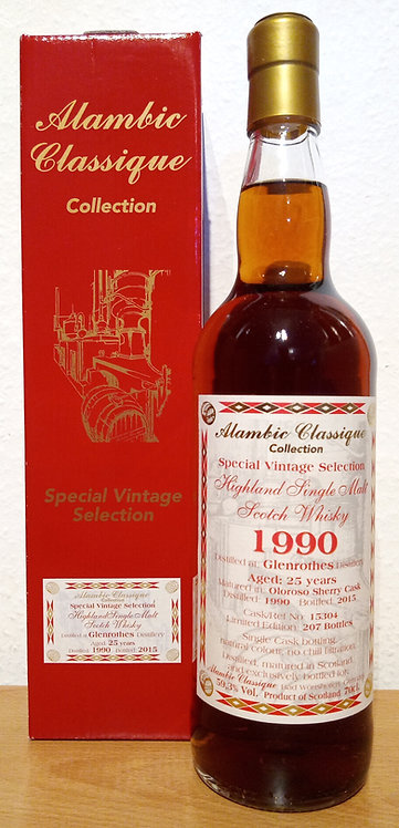 Glenrothes 1990 Alambic Classique 25 Years old  Oloroso Sherry Cask 15304
