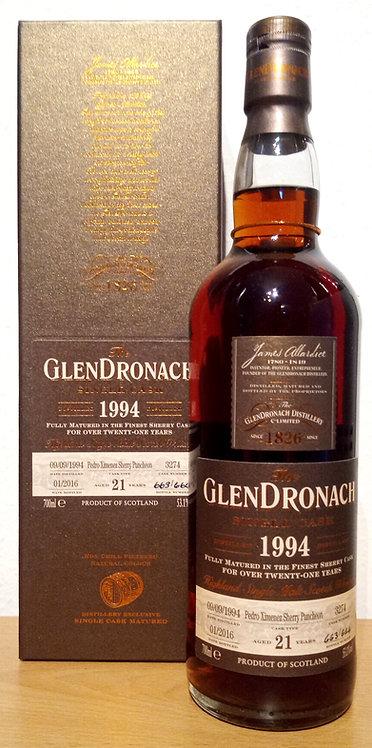 Glendronach 1994 Single Cask 3274 Pedro Ximenez Sherry 21 Years old