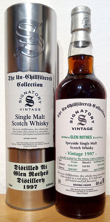 Glenrothes 1997 Signatory Vintage 1st Fill Sherry Butts 19 Years old Cask 9797