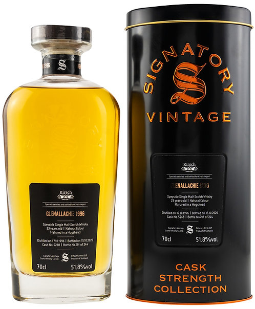 Glenallachie 1996 Signatory Vintage 23 Years old Cask 5268 Strength Collection