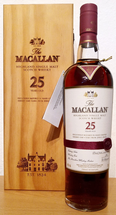 Macallan 25 Years Sherry Oak Cask in exklusiver Holzbox