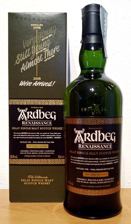 Ardbeg 1998 Renaissance 10 Years old The Islay Single Malt Whisky