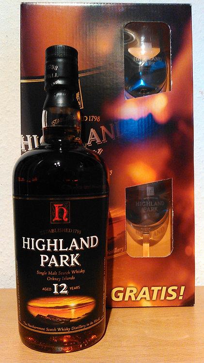 Highland Park 12 Years Oak Casks mit 2 Nosing-Gläser (alte Abfüllung)