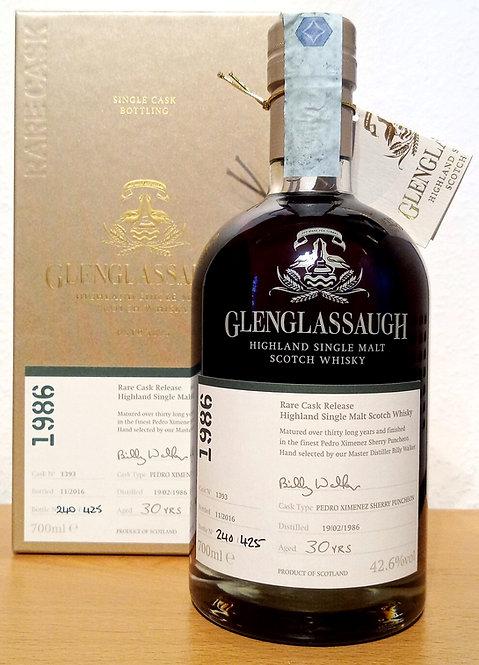 Glenglassaugh 1986 Bottled 2016 Rare Cask Release 30 Years old
