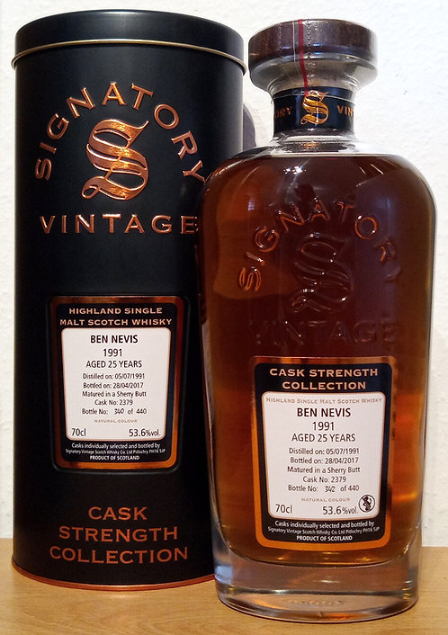 Ben Nevis 1991 Signatory Vintage 25 years old Cask 2379 Strength Colle