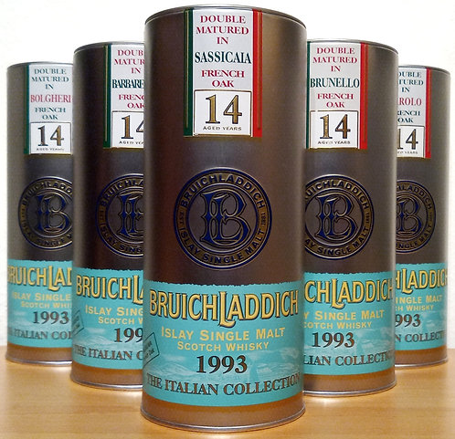 6 x Bruichladdich Italian Collection 14 Years old 1993/2007 komplette Serie