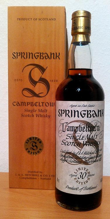 Springbank 30 Millennium Bottling Limited Edition Sherry Casks Bottled 1999
