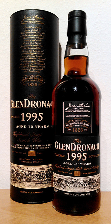 Glendronach 1995 Vintage Bottling PX Sherry Puncheon 19 Years old