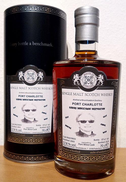 Port Charlotte 2003 Malts of Scotland 16 Years old Port Wine Cask 19055