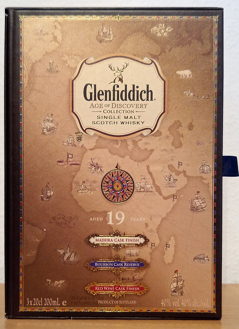 Glenfiddich 19 Jahre Age of Discovery Bourbon, Madeira, Red Wine Cask 3 X 200 ml
