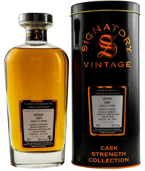 Ledaig 2007 Signatory Vintage 12 years old Refill Sherry Butt 700556