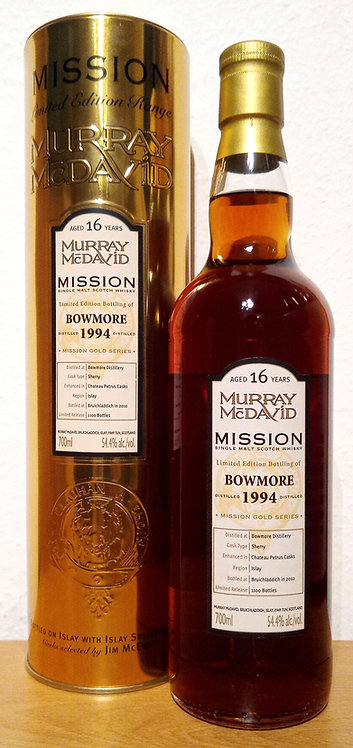 Bowmore 1994 Murray McDavid 16 Years old Mission Gold
