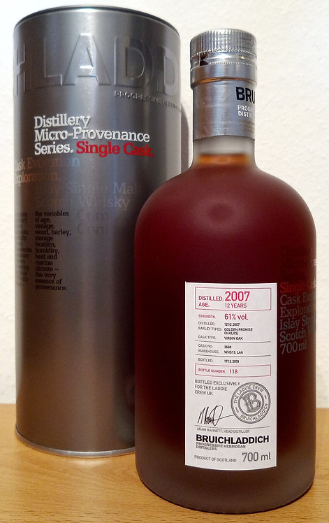Bruichladdich 2007 Micro-Provenance Virgin Oak Cask 12 Years old UK Exclusive