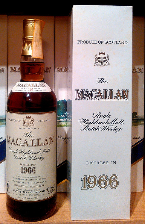 Macallan 18 Years 1966 Single Malt Sherry Oak Casks + Box