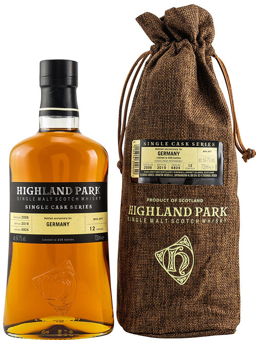 Highland Park 2006 Single Cask Series 12 Years old Refill Butt 6824