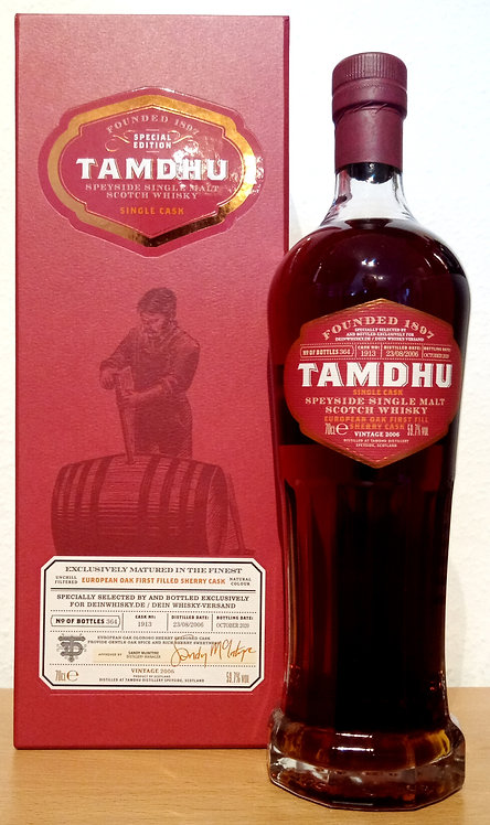 Tamdhu 2006 First Fill Oloroso Sherry Hogshead 14 Years old Single Cask 1913