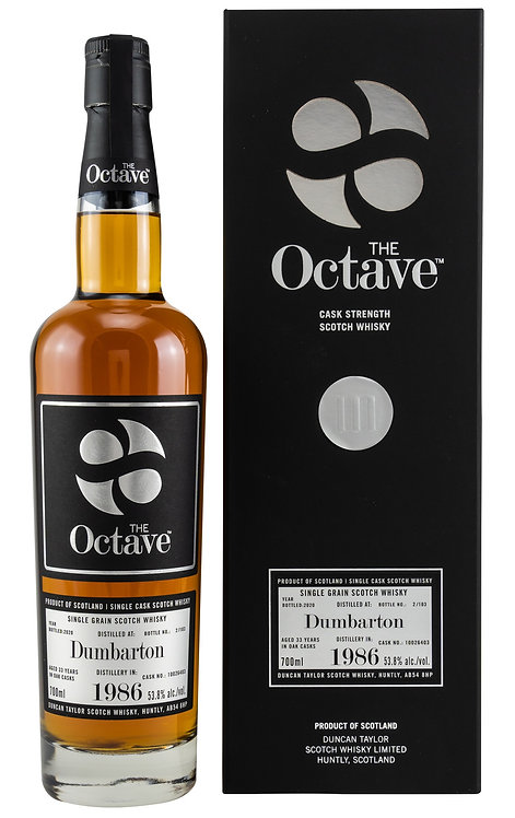 Dumbarton 1986 / 2020 Duncan Taylor The Octave 33 years old Cask 10026403