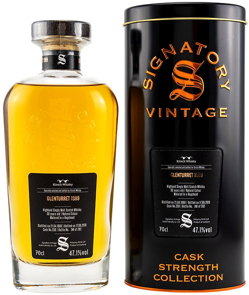 Glenturret 1989 Signatory Vintage 30 years old Cask 230 Strength Collection