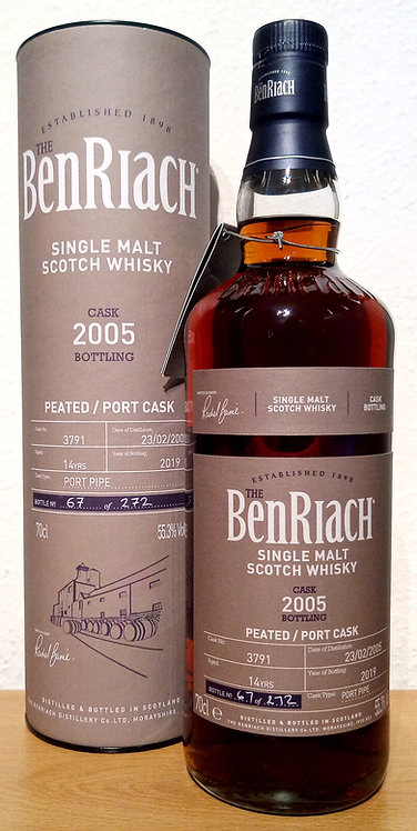 BenRiach 2005 Cask Bottling Batch 16 Port Pipe 14 years old