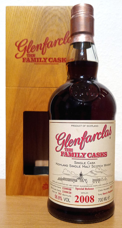 Glenfarclas 2008 The Family Casks 12 Years 1st Fill Sherry Hogshead 2437