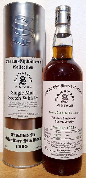 Glenlivet 1995 Signatory Vintage 1st fill Sherry Butt 15 Years old Cask 166936