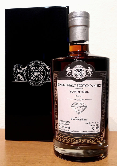 Tomintoul 1969 Malts of Scotland 50 Years old Sherry Hogshead Cask 19039