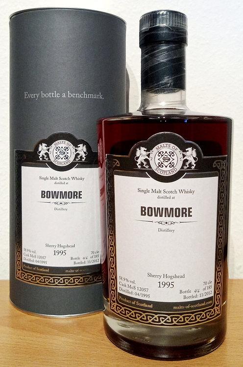 Bowmore 1995 Malts of Scotland Sherry Hogshead 17 Years old Cask 12057