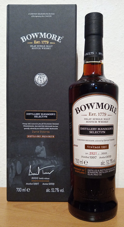 Bowmore 1997 Distillery Manager's 21 Years old Oloroso Sherry Hogshead Casks
