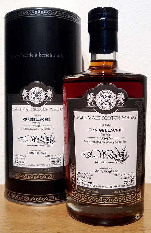 Craigellachie 2002 Malts of Scotland 17 Years old Sherry Hogshead Cask 19035