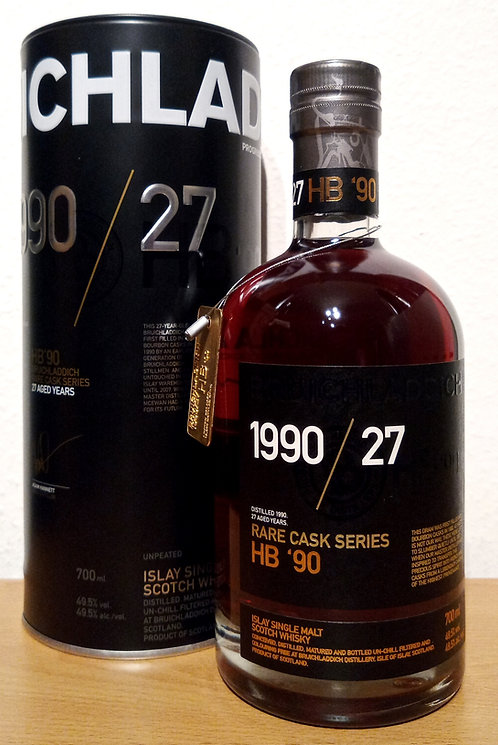 Bruichladdich 1990 Rare Cask Series 27 Years old Limited Edition