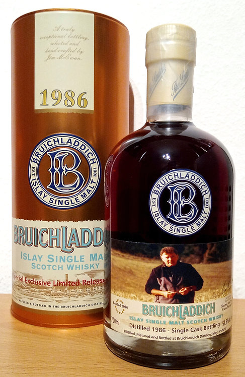Bruichladdich 1986 Sherry Butt 20 Years old Bottled 2006 Limited Edition
