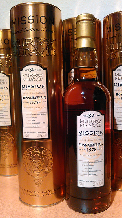 Bunnahabhain 1978 Murray McDavid 30 Years old Mission Gold
