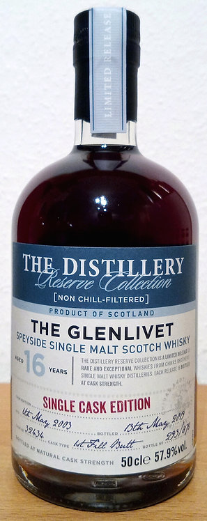 Glenlivet 2003 The Distillery Reserve 16 Years old First Fill Butt 32434